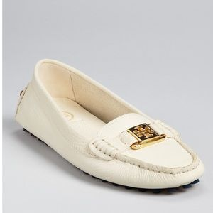 Tory Burch white cream loafers size 8.5